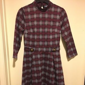 ModCloth Pullover Plaid Dress, Size Small
